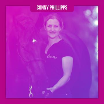 Folgenfoto Conny Phillipps • FN Physiotherapeutin für Pferde & Osteopathie im Pferdemädchen Podcast