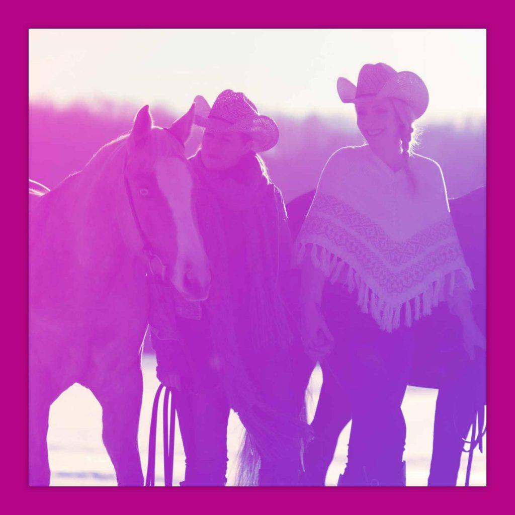 LIVE LOVE RIDE Pferdemädchen Podcast Sabine Blank mit Julia und Nicole Greb